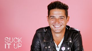 Bachelor's Wells Adams Admits To Giving Terrible Dating Advice In This Sour Candy Challenge