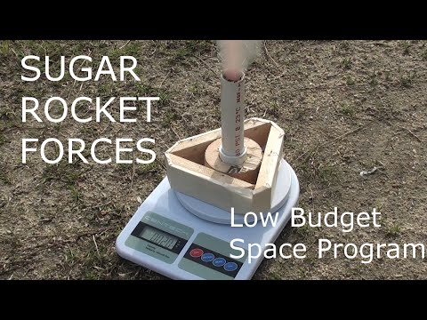 Sugar Rockets Static Force Tests -Low Budget Space Program
