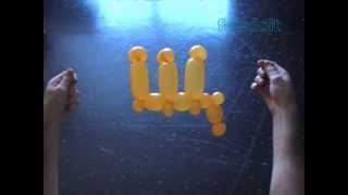 Буква Ш або Щ повітряна куля скручування російська абетка
