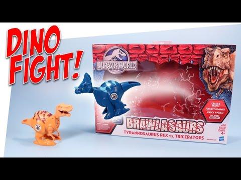 Jurassic World Brawlasaurs Tyrannosaurus Rex vs. Triceratops Toys