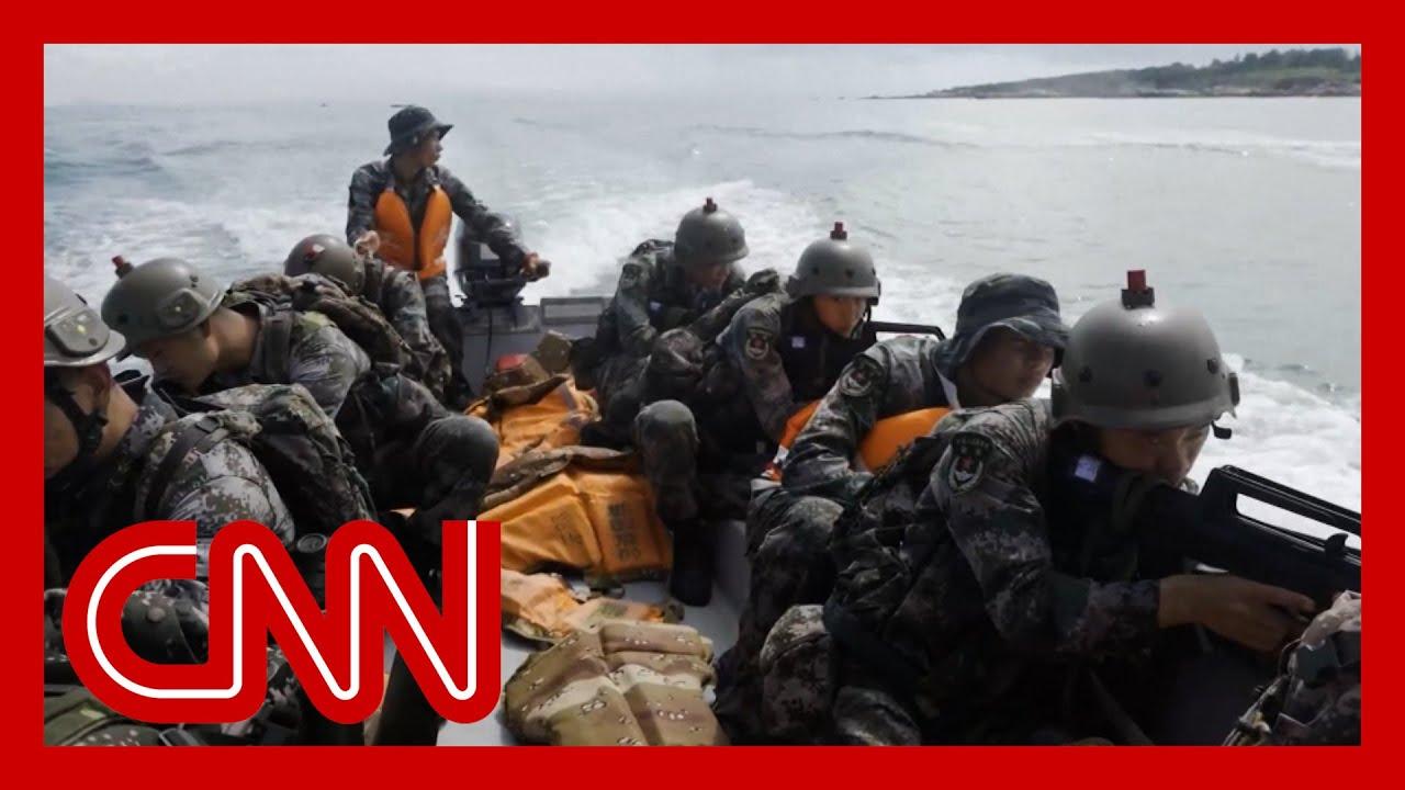 Download China sends warning to US in military training propaganda video