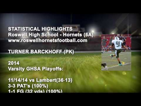Turner Barckhoff Roswell High School Kicker Intro Video