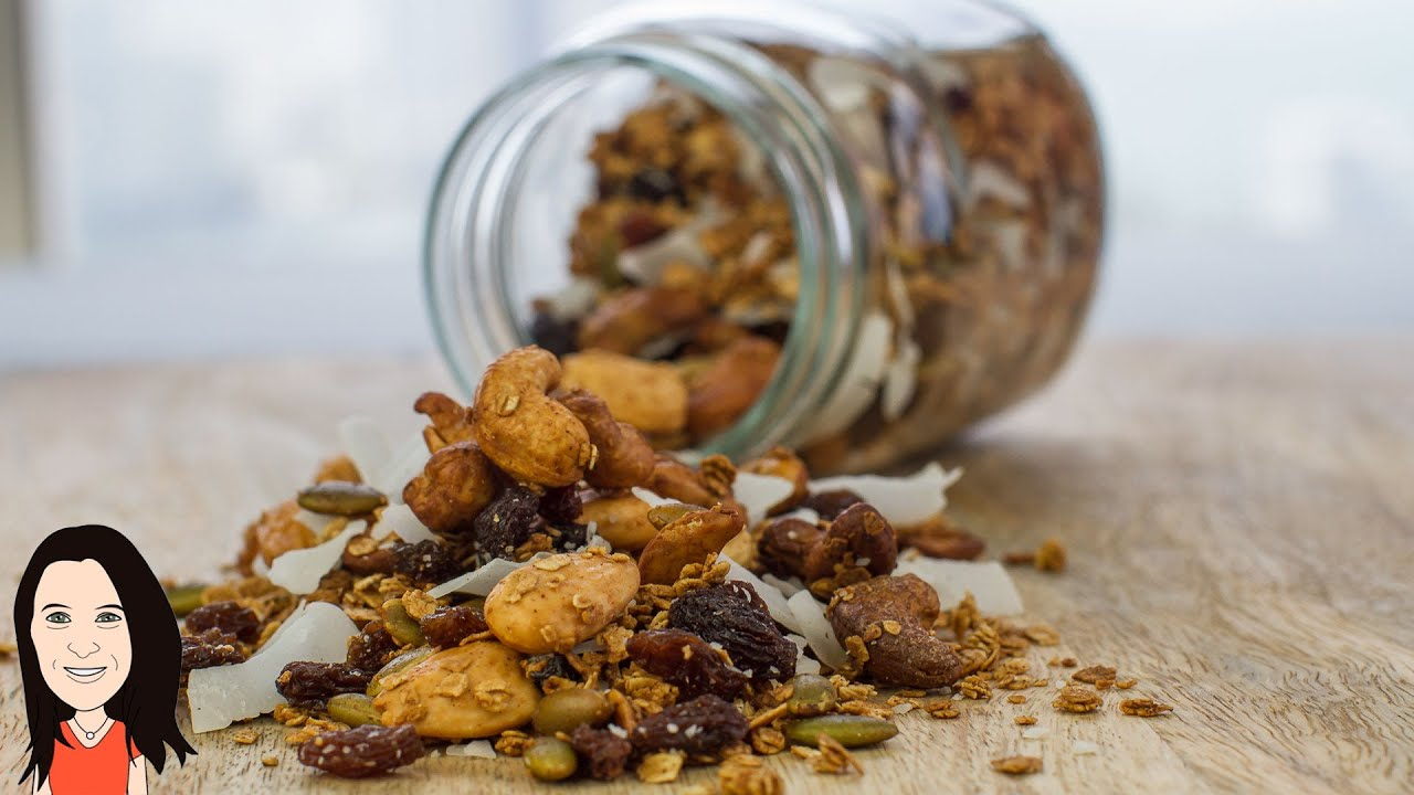 Make your own homemade granola cereal no oil vegan recipe youtube ccuart Choice Image
