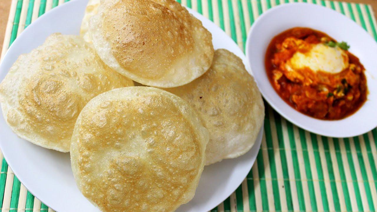 Poori Recipe - How to make poori or puri - Indian deep ...