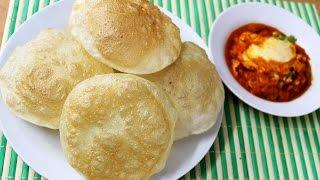 Poori  Recipe -  How To Make Poori Or Puri - Indian Deep Fried Puffed Bread Recipe