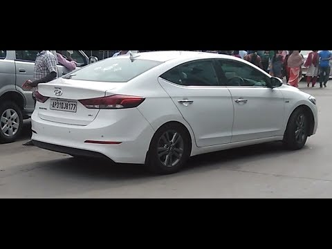 Hyundai Elantra 2017 India White Colour Out Looks On Road