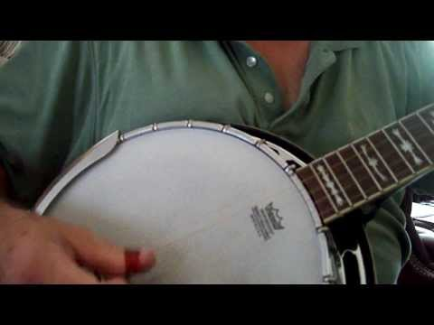 """Amazing Grace"" Bluegrass Gospel Song Mountain Banjo Picking Style"
