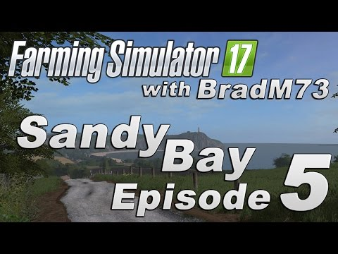 Farming Simulator 17 - Sandy Bay Map Mod - Episode 5 - Grass and Silage Baling!