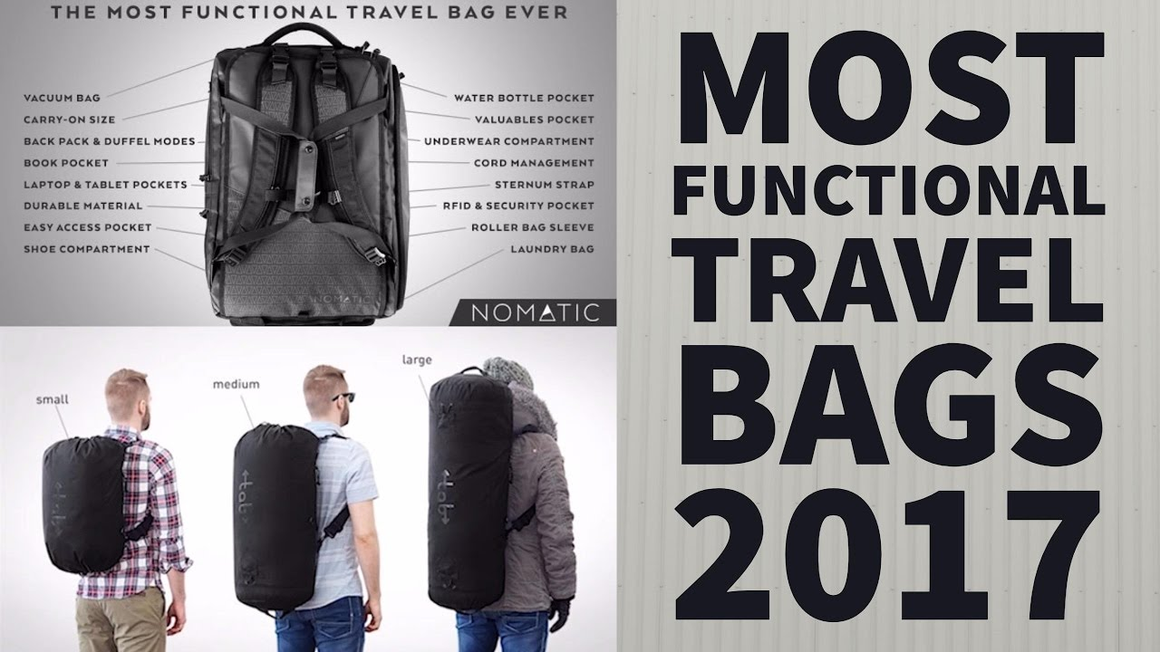 bdd868401e Most Functional Travel Bags 2017