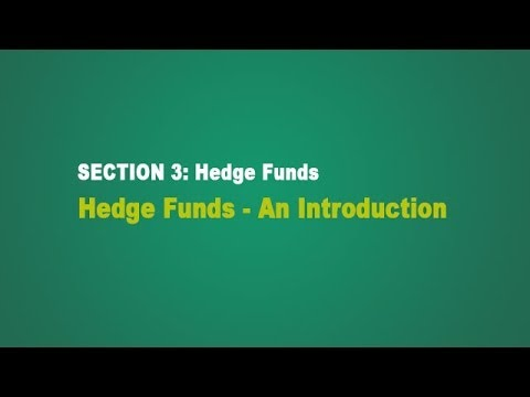 Hedge Funds - An Introduction