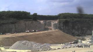 Timelapse of construction of cut and cover tunnel at Hermitage Quarry