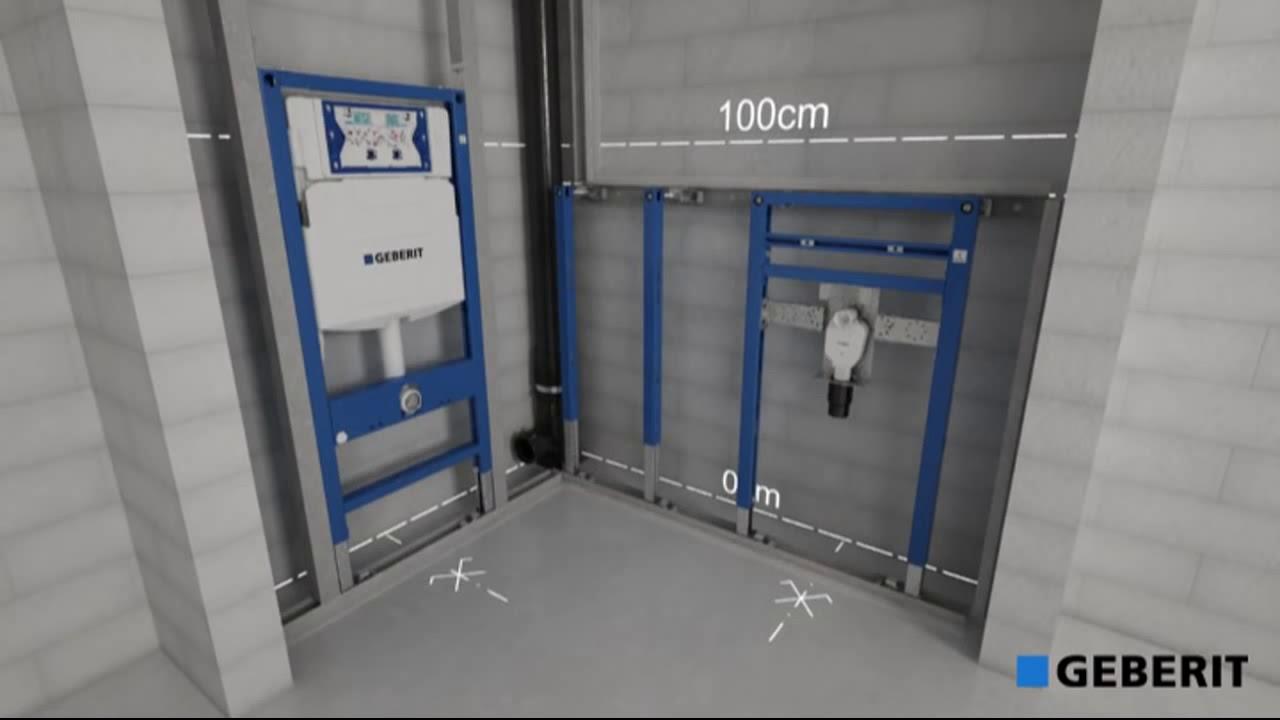 Raccordement Wc Suspendu Geberit bâti-support geberit duofix en applique 112 cm pour wc suspendu 111.303.00.5