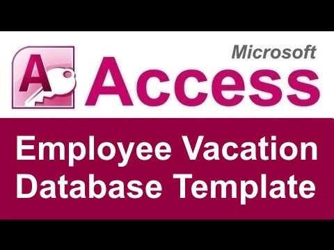 Employee Vacation Tracking Database Template  Youtube