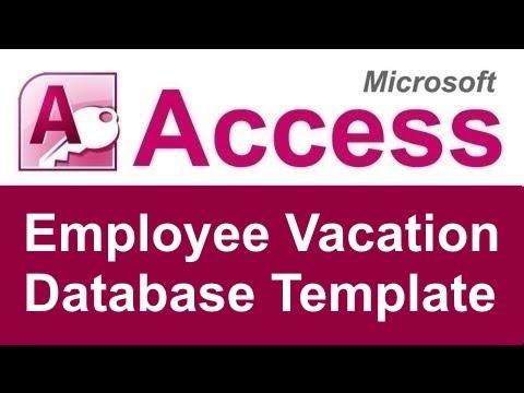 Employee Vacation Tracking Database Template - YouTube