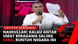 Teuku Nasrullah: Bayangkan Umat Beragama di Indonesia Saling Serang, Hancur NKRI   Catatan Demokrasi