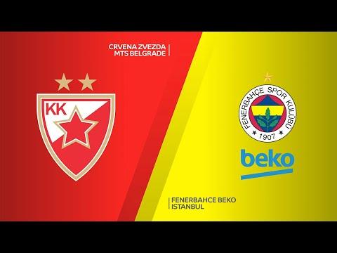 Crvena Zvezda mts Belgrade - Fenerbahce Beko Istanbul Highlights   EuroLeague, RS Round 18