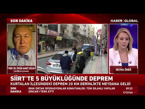 Prof. Dr. Ahmet Ercan'dan Son Dakika Siirt Depremi Yorumu!