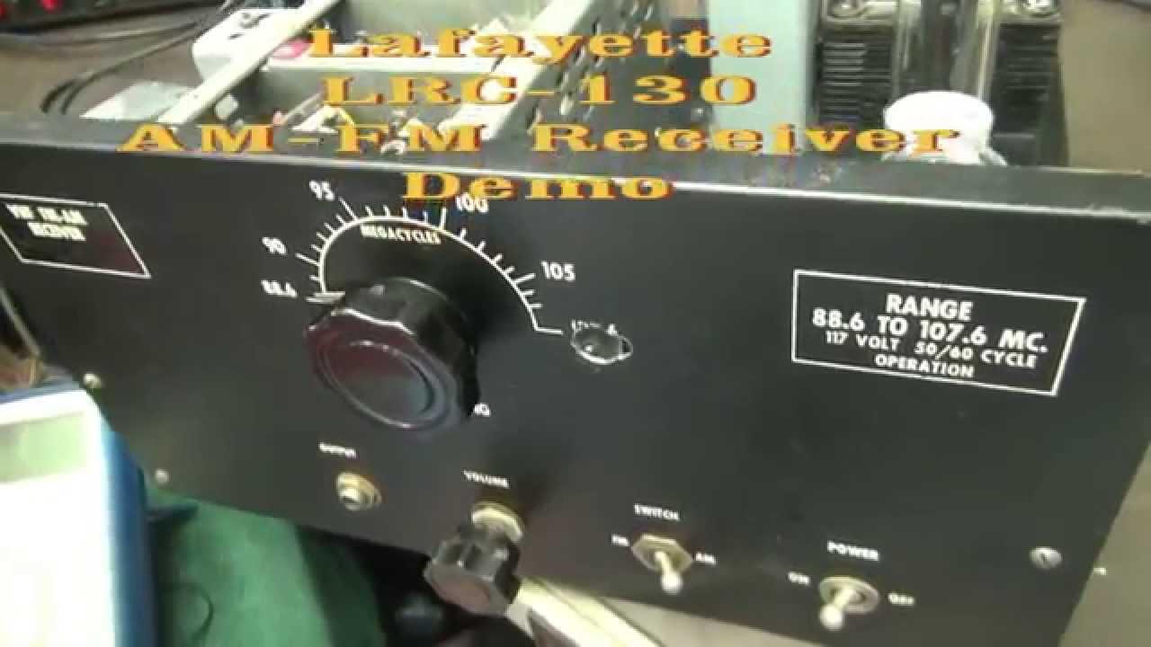 Vintage Lafayette LRC-130 AM FM Tube receiver Antique radio kit demo
