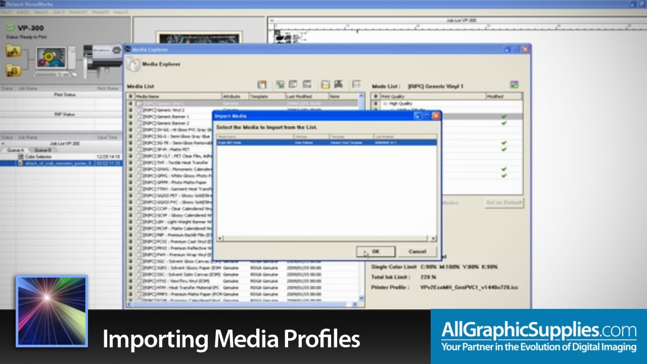 Importing and Applying Profiles in Roland VersaWorks - All Graphic Supplies