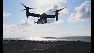 CV-22 Ospreys Land on USS Wasp at Sea