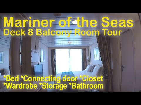 Mariner of the Seas - Balcony Deck 8 Room Tour