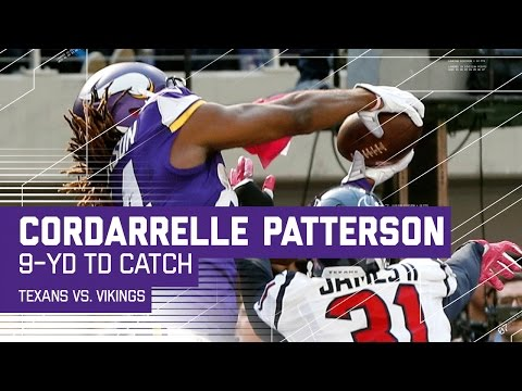 Sam Bradford Connects with Cordarrelle Patterson for a 9-Yard TD | Texans vs. Vikings | NFL