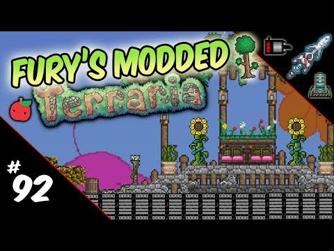 Fury's Modded Terraria | 92: Turrets! (and Apples)