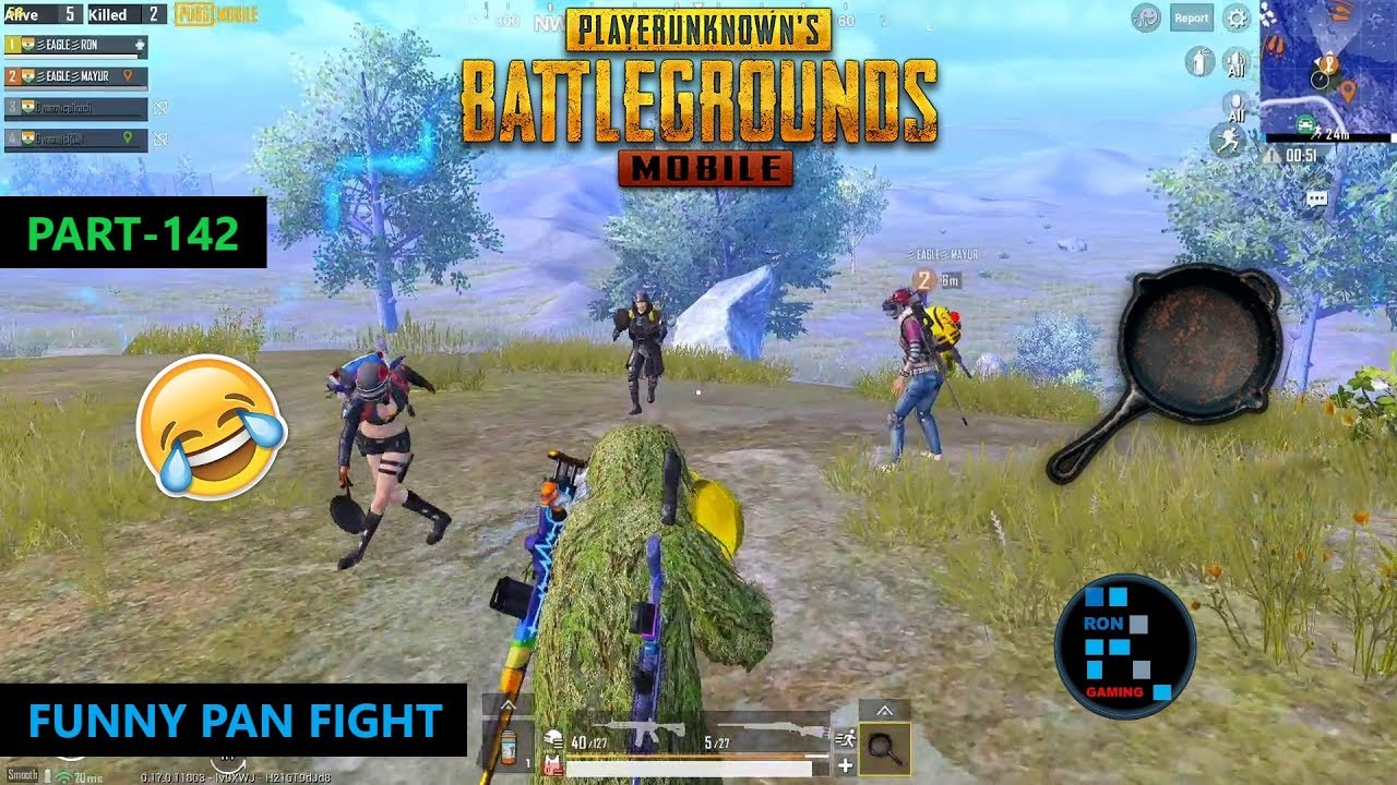 PUBG MOBILE | FUNNY PAN FIGHT & DUO VS SQUAD CHICKEN DINNER