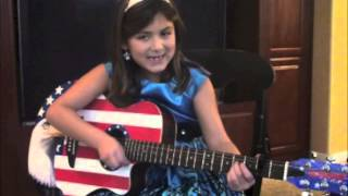 7 year old girl with cool guitar sings Taylor Swift-Cute