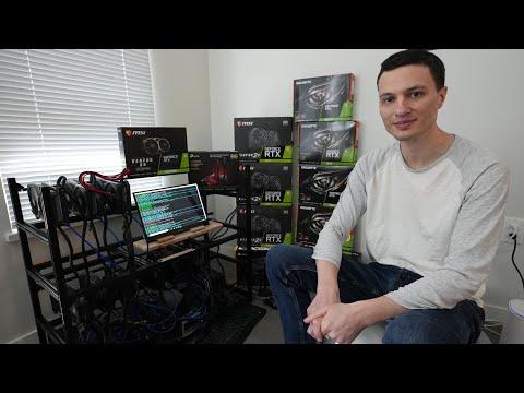10 X GPU Mining Rig Build   400MH/s at 1350 Watts - Update Video