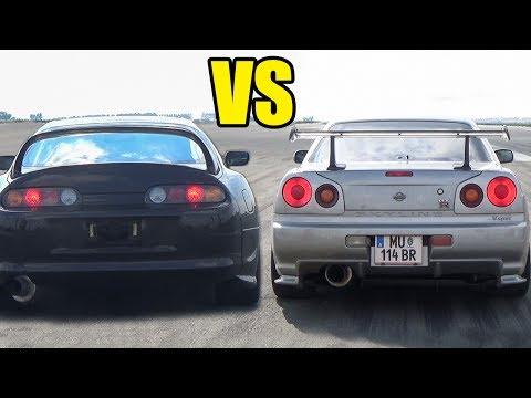 Toyota Supra vs Nissan Skyline R34 - SOUND BATTLE!🔥🔥