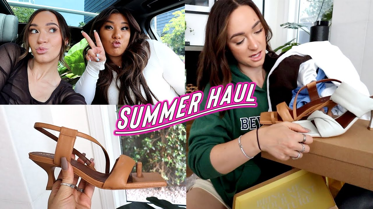 summer haul: new shoes, pr unboxings + pretty basic studio??