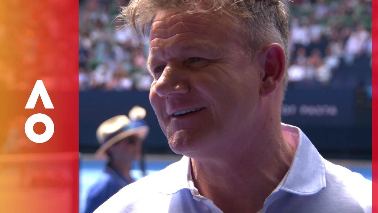boris becker and gordon ramsay face off australian open. Black Bedroom Furniture Sets. Home Design Ideas