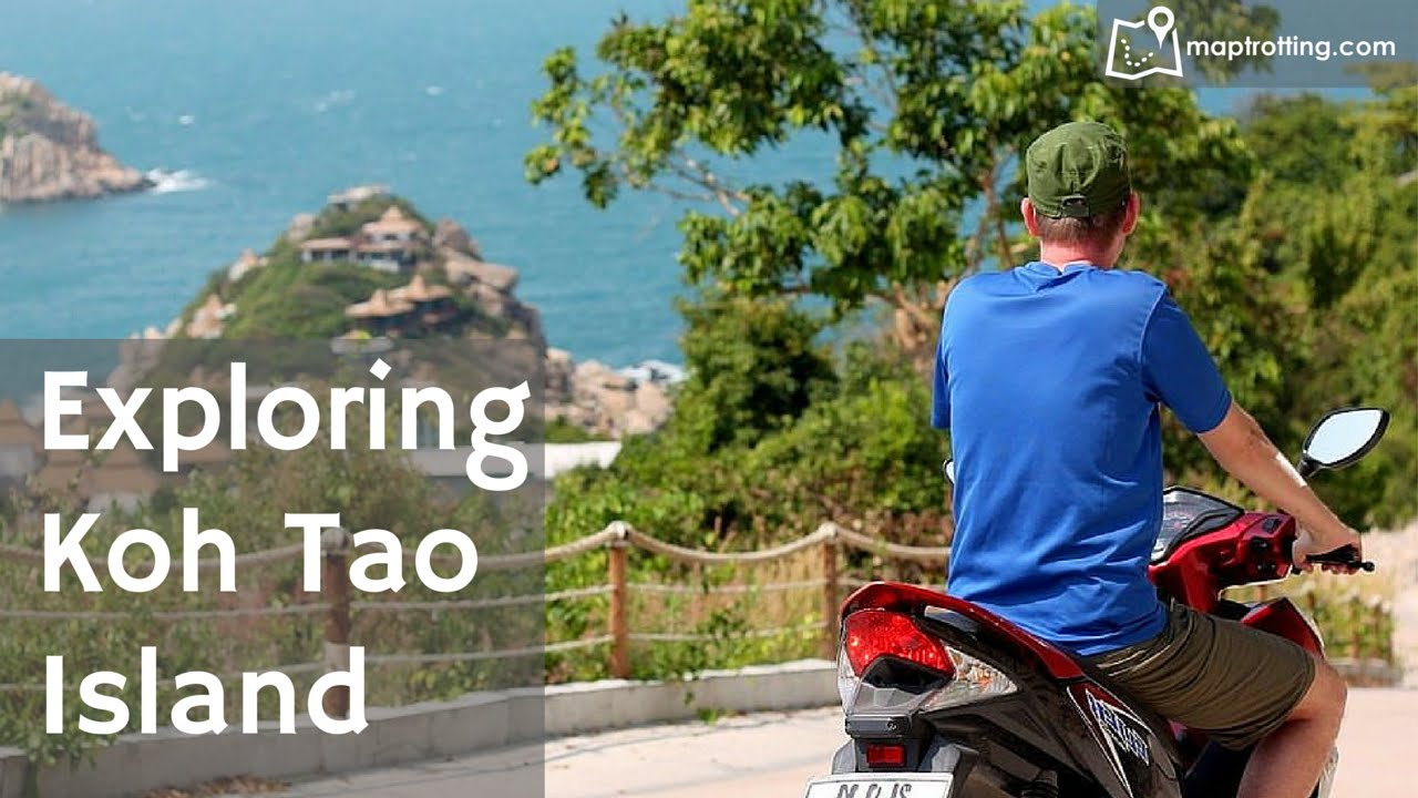 Exploring Koh Tao Island by scooter