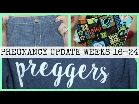 Pregnancy Vlog Weeks 16-24 | Symptoms, Baby Clothes, and More!