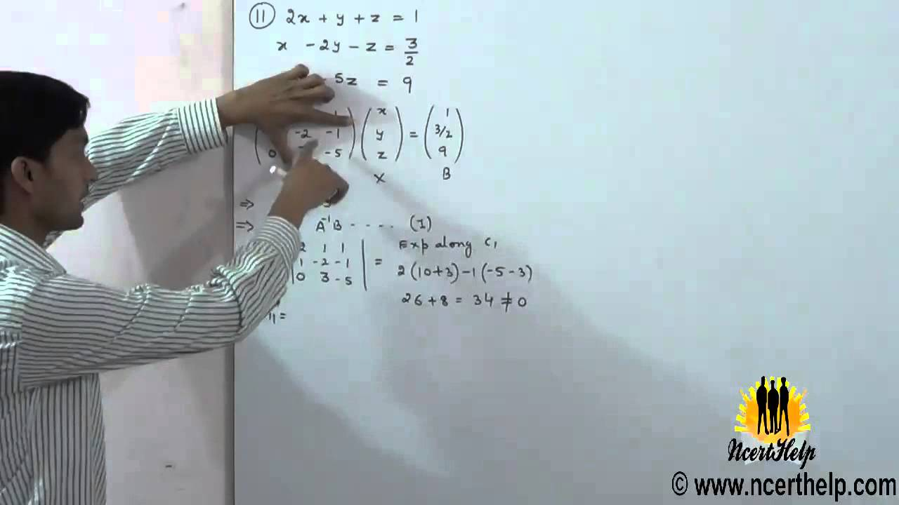 how to solve linear equations using determinants hindi : 4.6 ...