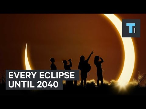 Map shows every upcoming solar eclipse until 2040