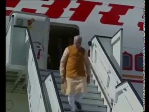 PM Narendra Modi's arrival in Frankfurt, Germany
