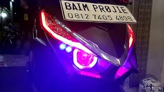 CUSTOM HEADLAMP VARIO 150 BY BAIM PROJIE