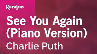 karaoke see you again piano version   charlie puth