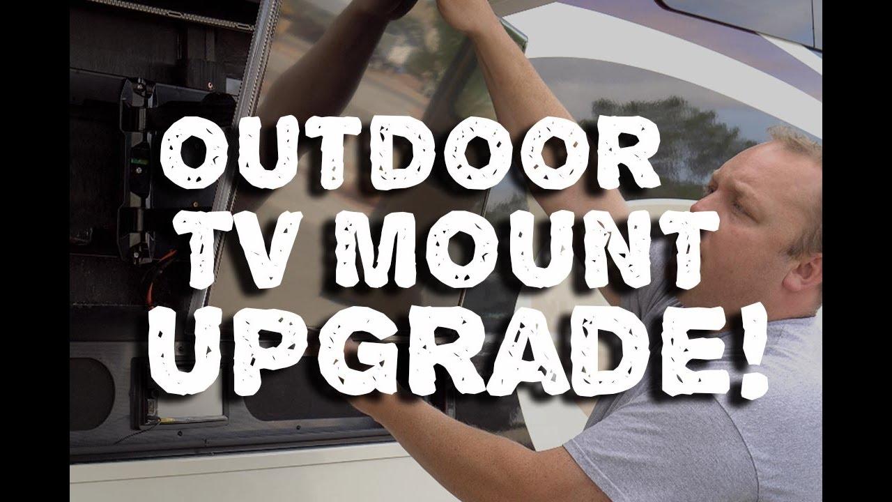 Outdoor Tv Upgrade Tilt Mount Installation For Rv Trailer Big Tex Wiring Schematic Entegra Aspire