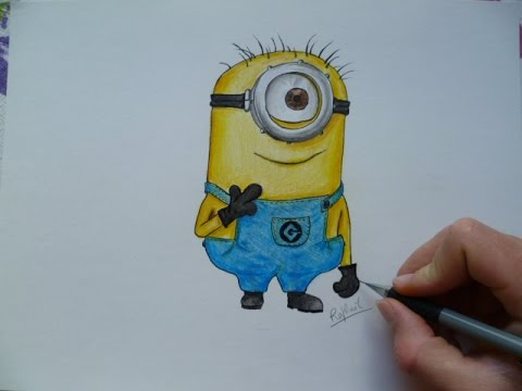 Comment dessiner un minion speed drawing youtube - Minion a dessiner ...