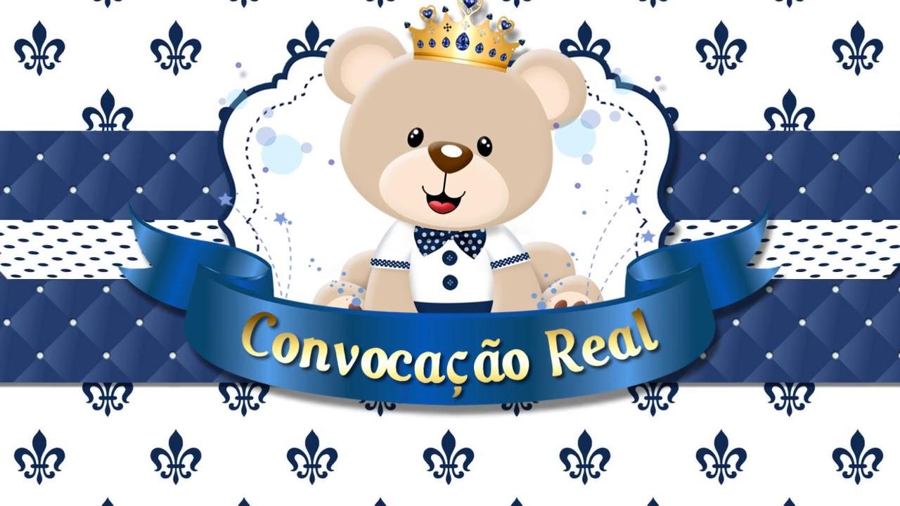 Convite Animado Ursinho Príncipe Lucas Miguel 1 Aninho Youtube