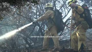 Hillside Brush Fire / Griffith Park   RAW FOOTAGE