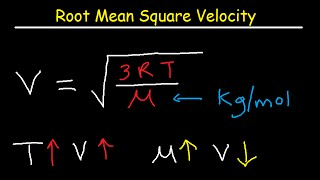Root Mean Square Velocity - Equation / Formula
