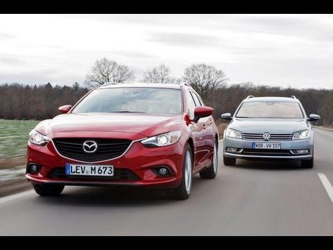 VW Passat vs. Mazda 6 Wer wird Kombi Knig