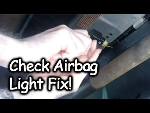 fixing check airbag light front airbag sensor replacement youtube. Black Bedroom Furniture Sets. Home Design Ideas