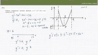 Задача на исследование функции с помощью производной