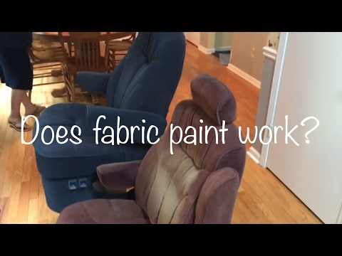 Fabric spray painting rv chairs