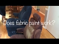Fabric spray painting rv chairs